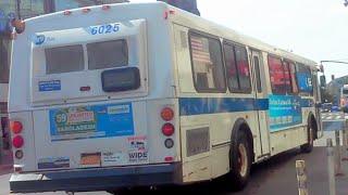 [MTA]: Co-op City Bound 1999 Orion V [#6025] Q50 LTD Bus @ Main St & Roosevelt Av
