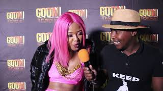 Babes Wodumo #BlackPanther Interview with Ntate Moloi at Gqom In Concert in Pavilion #GqomInConcert