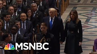 NYT: President Trump Miffed That Focus Shifted To Bush 41 & Away From Him | The 11th Hour | MSNBC