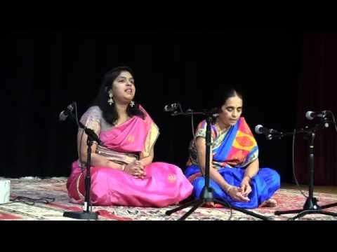Nalini aunty and Vijji - Poet Purandaradasa event - SV Temple 2016