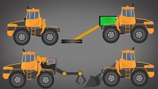 Transformer Detector Truck, Claw Truck, Bulldozer Video For Kids
