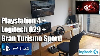 PS4 + Logitech G29 steering wheel + Shifter in action with Gran Turismo Sport