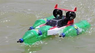 How to make a Boat - Bottle JET Boat - Bottle Boat - Recycling Ideas - Boat