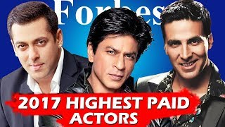 Salman, Shahrukh & Akshay Only Indian Celebs In Forbes Highest Paid Celebrity List