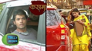 Tanushree Meets With An Accident By Rishi's Car | Kasam Tere Pyaar Ki  | Colors