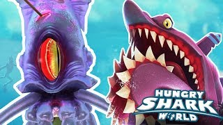 HELICOPRION vs SQUID BOSS!!! - Hungry Shark World | Ep 51 HD