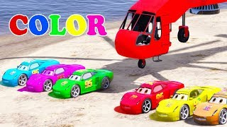 COLORS for Children with McQueen Cars & Spiderman Superheroes for Kids 3D Cars Nursery Rhymes