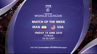 Live: Iran vs USA - FIVB Volleyball World League 2015