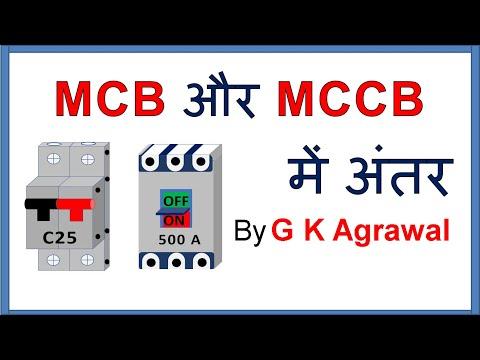 MCB & MCCB circuit breaker difference in Hindi