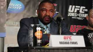 UFC 145 Video: Rashad Evans Gracious In Defeat, Pays Jon Jones His Due