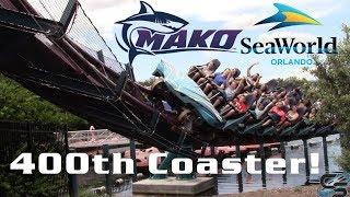Riding My 400th Roller Coaster! Mako at SeaWorld Orlando!