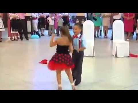 Little boy and girl Dancing