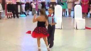 Little boy and girl Dancing