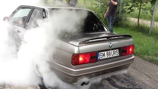 BMW E30 V8 BURNOUT! BMW E30 Meeting!
