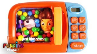 Learn Colors for Children: Paw Patrol Ryder & Skye Surprise Egg & Microwave Kitchen Appliance Toy