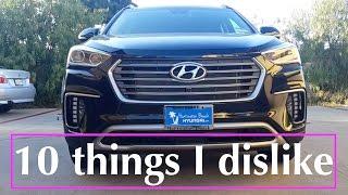 2017 / 2018 Hyundai Santa Fe  Review - 10 things I hate about the car