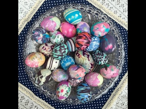 DYE EASTER EGGS WITH SILK