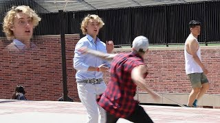 PUNCHING Scare Prank in College! Part 1 (FANS MEET & GREET)