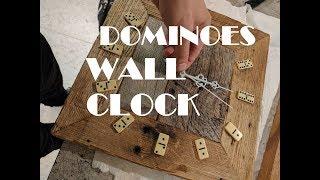 Reclaimed Wood  Rustic Dominoes Wall Clock