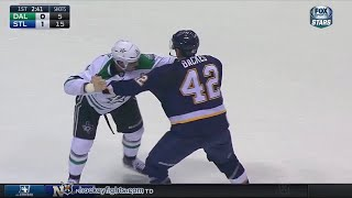 Jamie Benn vs David Backes Dec 12, 2015