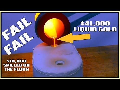 41 000 Gold Bar casting went wrong 12 000 boil over