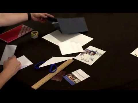 How to make a tract holder, also meeting invitation and business card holder. Easy! No glue. JW.org