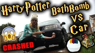 HARRY POTTER BATH BOMB VS CAR (SORTING HAT) | TheBakeey