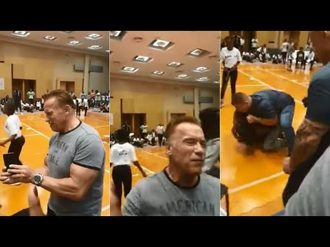 Xxx Mp4 Schwarzenegger Assaulted With Flying Kick During Event In South Africa I ABC7 3gp Sex
