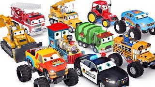 Wheels On The Bus | Cars Toys ft Monster truck School bus Police Car  - appMink playlist 100 mins