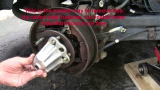 Remove Rear Hub Bearing, Any Car. Как Снять Подшипник Ступицы.