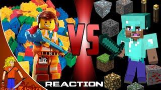 MINECRAFT STEVE vs LEGO EMMET Cartoon Fight Club (Reaction)