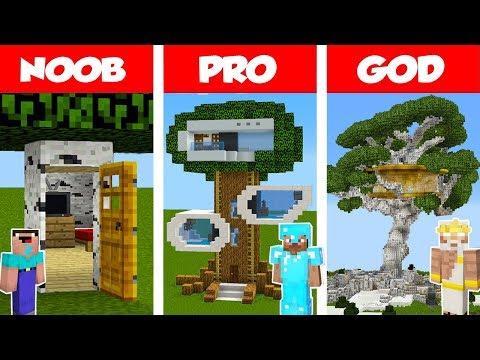Xxx Mp4 Minecraft NOOB Vs PRO Vs GOD Modern Tree House CHALLENGE In Minecraft Animation 3gp Sex