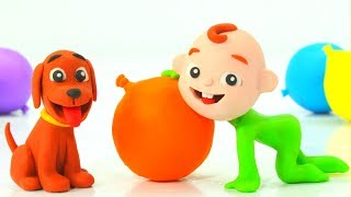 Learn Colors Baby Lucas Babies Play Doh Cartoons Stop Motion Animations