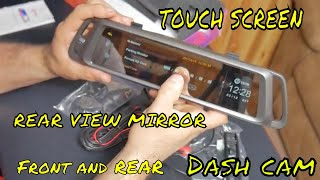 Touch screen rear view mirror/DASH CAM REVIEW AND INSTALL