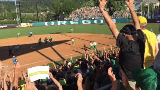 Watch: Oregon Ducks advance to Women's College World Series after comeback win against Kentucky