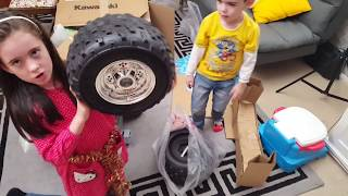 Biggest Kawasaki Quad Bike Kids Ride On Power Wheels Assembly