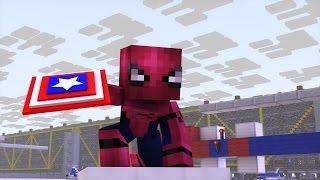 Minecraft Captain America Civil War Trailer 2 Animation