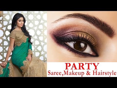 Xxx Mp4 Party Style Saree Draping With Party Hairstyle And Makeup Makeup Hair Tutorial Step By Step 3gp Sex