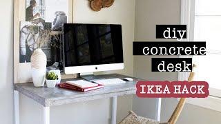 CONCRETE DESK DIY // IKEA Hack