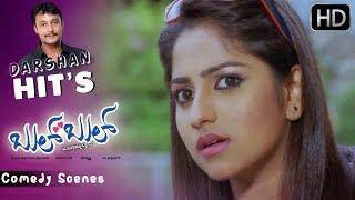 Darshan lies to Villain   Kannada Comedy Scenes   Bul Bul Kannada Movie   Rachitha Ram