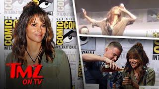Halle Berry Chugs Whisky At Comic Con   TMZ TV