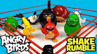 ANGRY BIRDS Movie Shake Rumble Game with Angry Birds Toys Blind Bag Toys Opening by KidCity