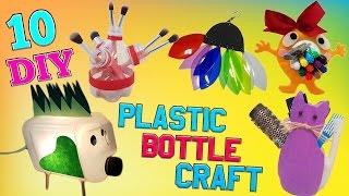 10 DIY Plastic Bottle Craft  HOW TO! DIY Creative ways reuse / recycle PET bottles part 3