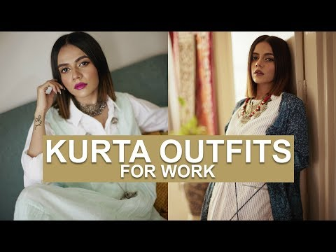 Xxx Mp4 STUNNING Kurta Outfits For Work Komal Pandey 3gp Sex