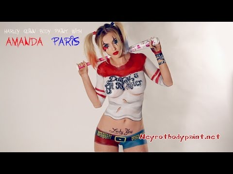 Xxx Mp4 Harley Quinn Body Paint With Amanda Paris Comic Series 3gp Sex