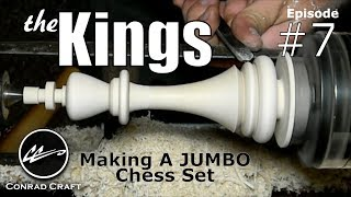 Check Mate! Making the Kings: Giant chess set episode 7. Conrad Craft. How to