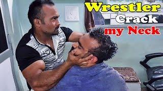 Head Massage with Neck CRACKING (Intense) - ASMR Indian Barber