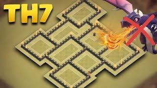 TH 7 Best War Base 2017 | Town Hall 7 Defense Anti Dragon | Clash Of Clans