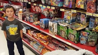 HUNTING FOR TOYS & POKEMON CARDS AT TARGET!! BUYING A WHOLE BOX OF STUFF! MEGA HAUL! SHOP 4 CLOTHES!