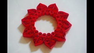 How to make a paper quilling heart for candle decoration - Valentine's day craft